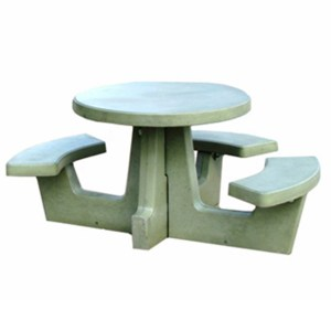 Cement Round Picnic Table